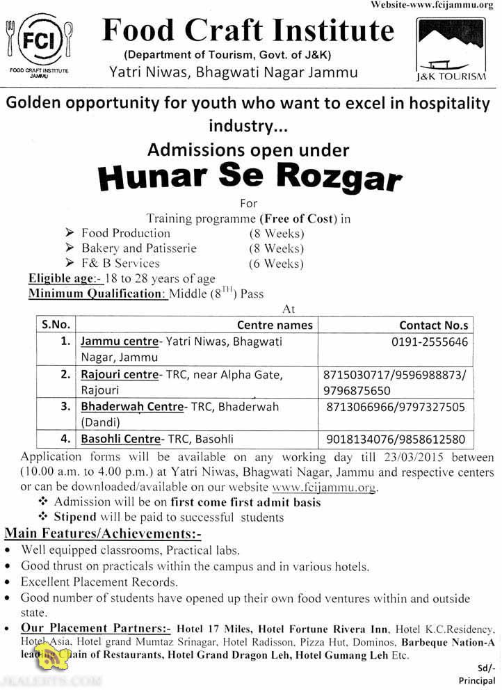 Admissions open under Hunar Se Rozgar Training programme