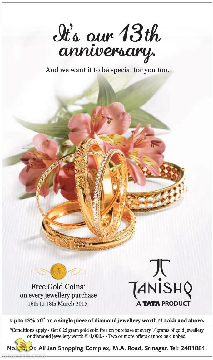 Latest offer on Tanishq Jewellery