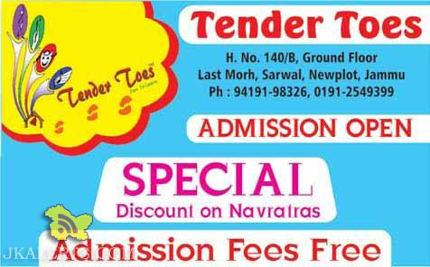 Admission open in Tender Toes