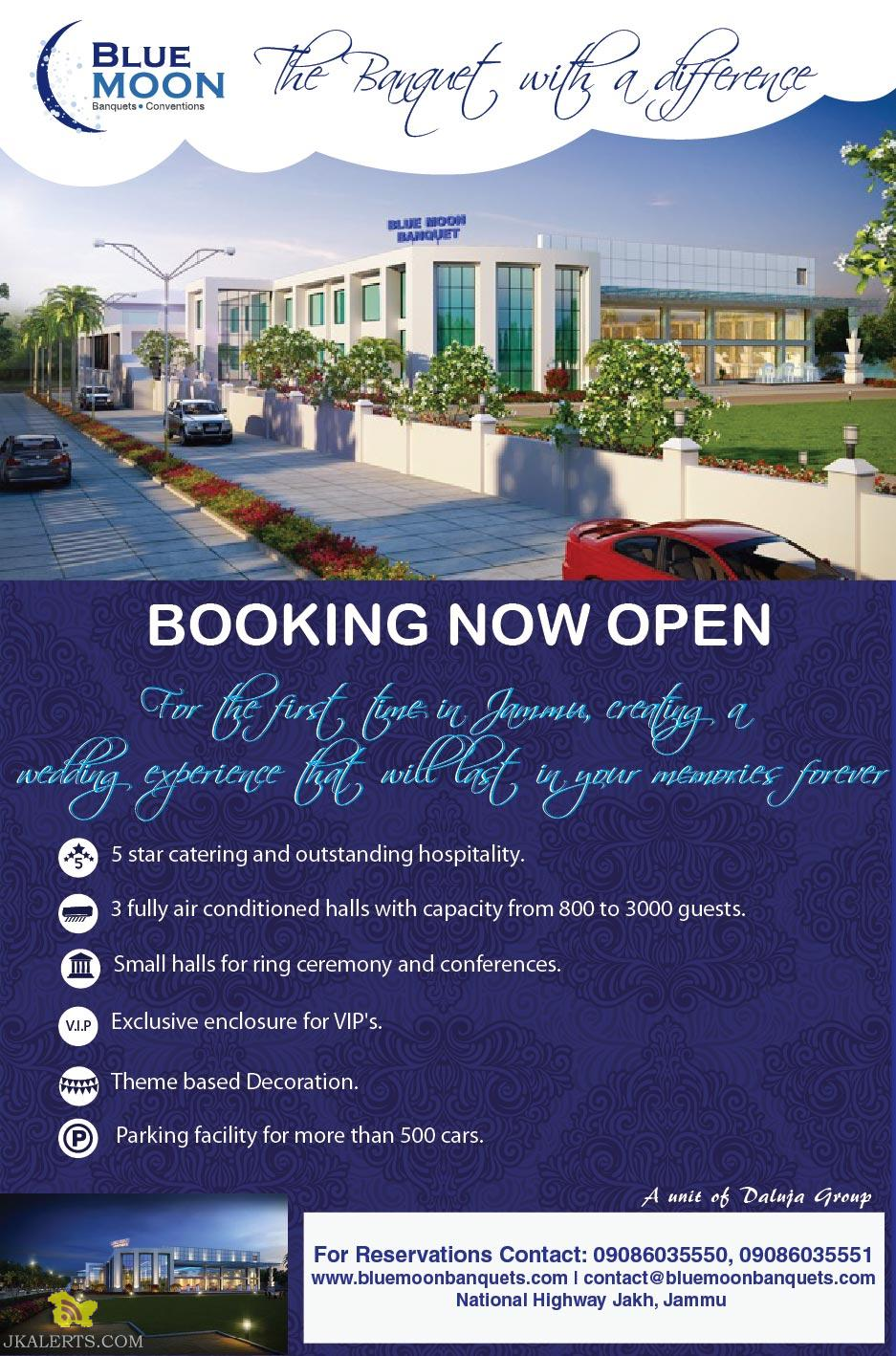 Blue Moon Banquet Jammu Booking open