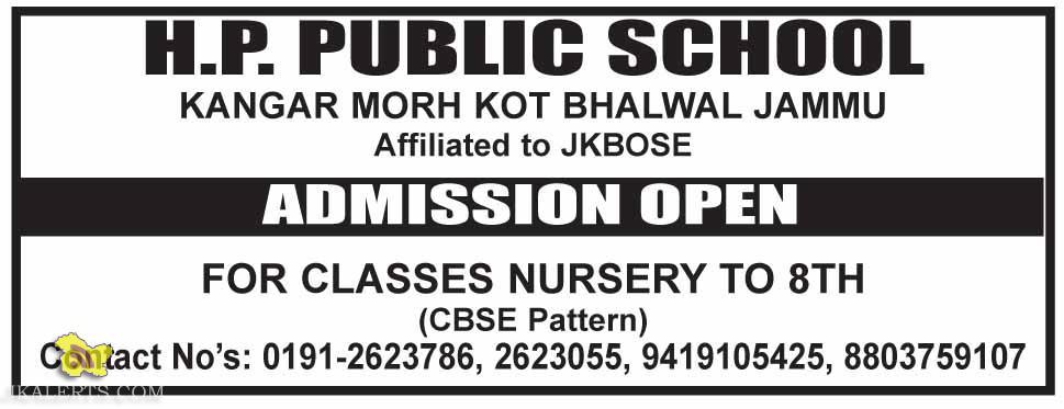 Admission open in H.P. Public school 2015