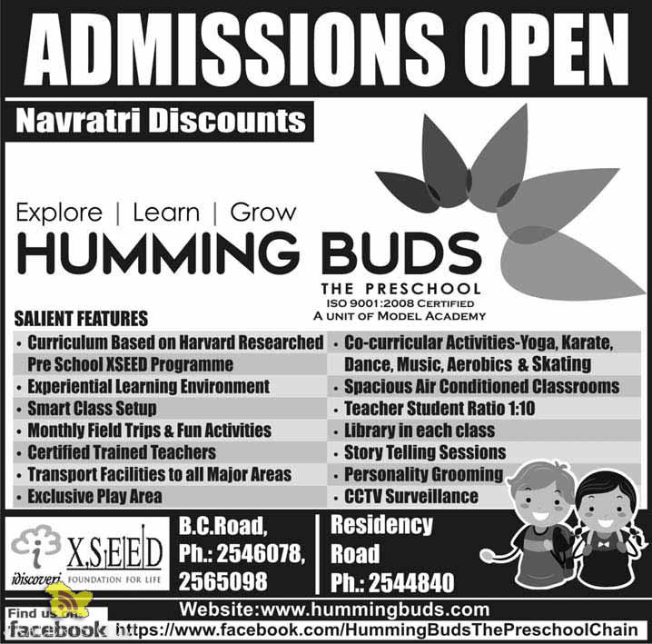 Admission open Humming Buds School