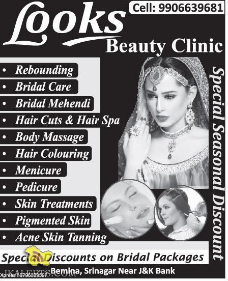 Looks Beauty Clinic Discount in Srinagar
