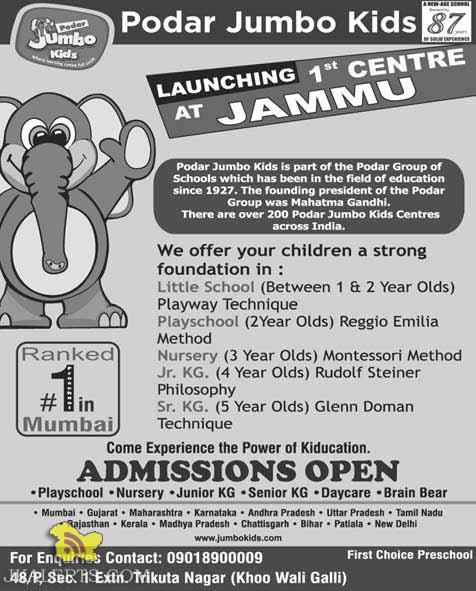 Podar kids Jammu