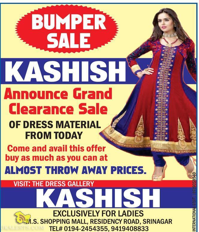 Sale on Dress Material M.S. SHOPPING MALL, RESIDENCY ROAD, SRINAGAR