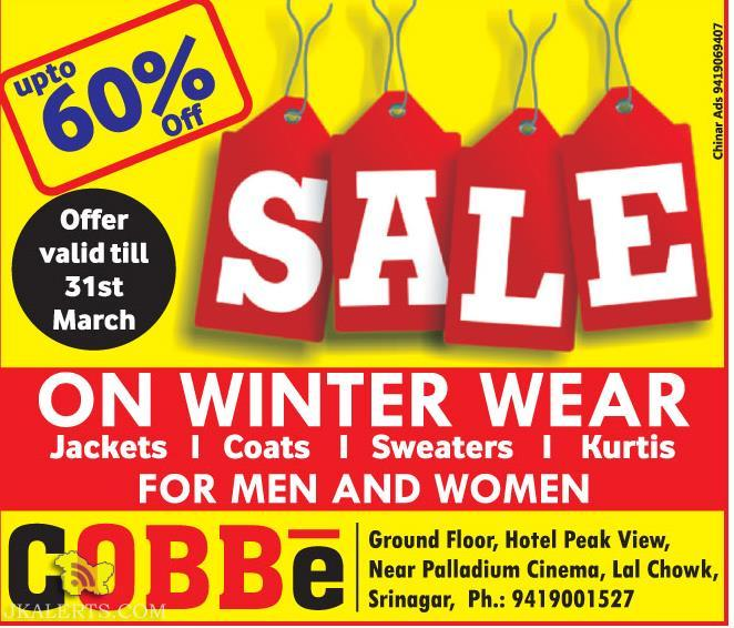 Sale on Jackets, Coats, Sweaters, Kurtis FOR MEN AND WOMEN