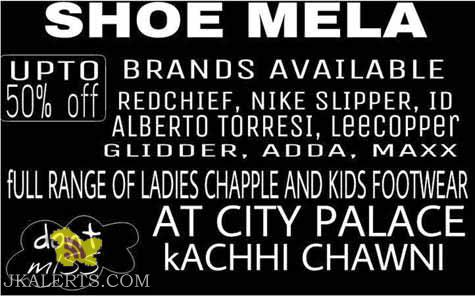 Shoe Mela Sale on Gents, Ladies and Kids footwear in city palace