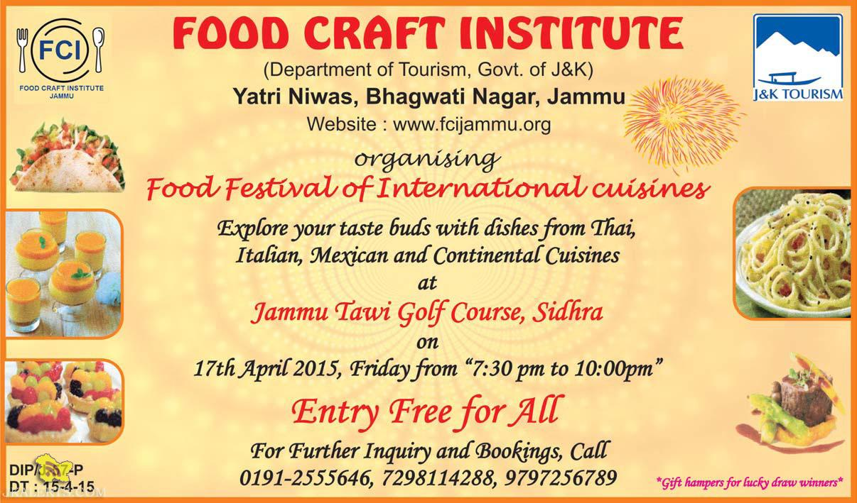 Food Festival of International Cuisines in Jammu Tawi Golf Course, Sidhra