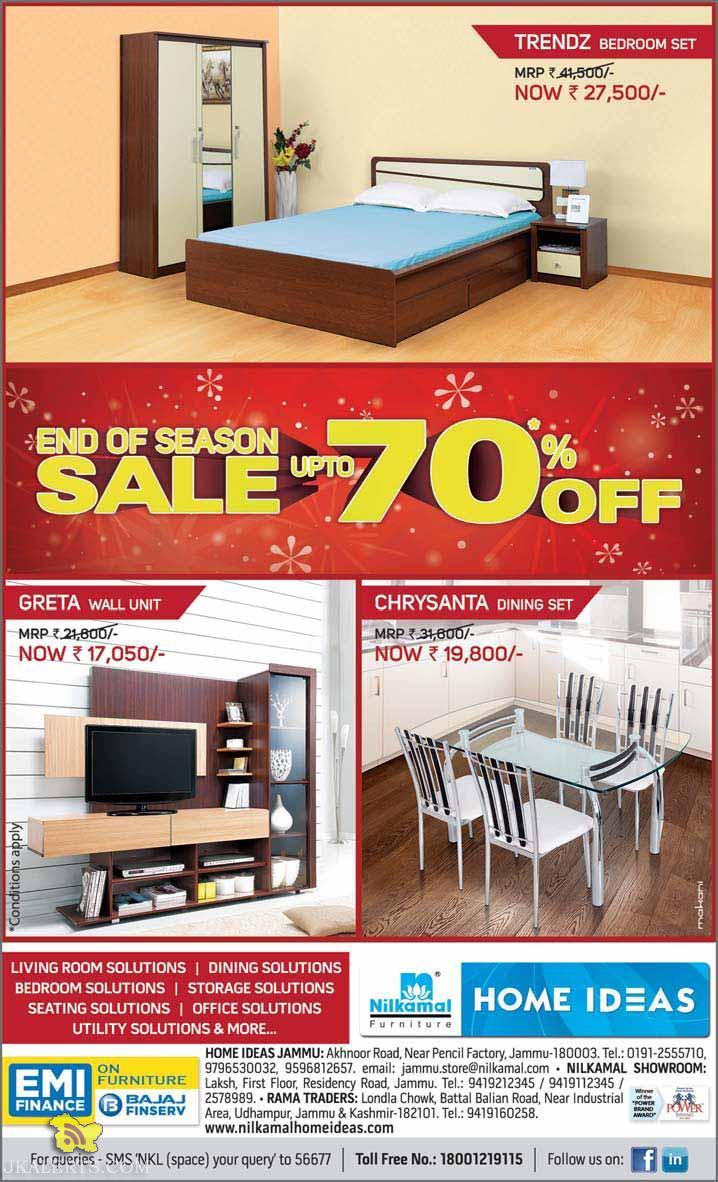 End of Season sale on furniture Nilkamal Home Ideas