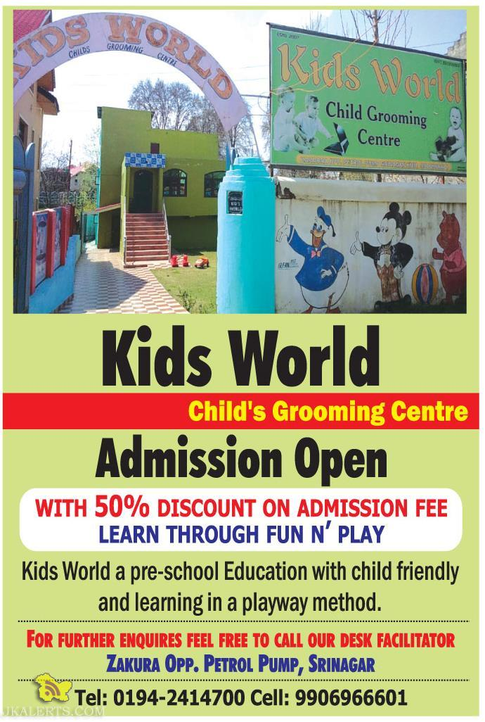Admission open in kids world srinagar