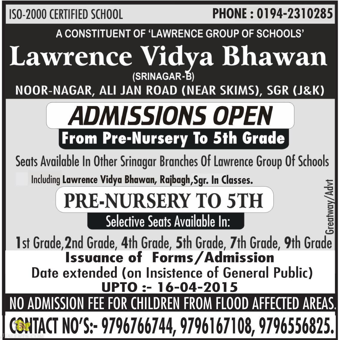 Jobs in LAWRENCE GROUP OF SCHOOLS
