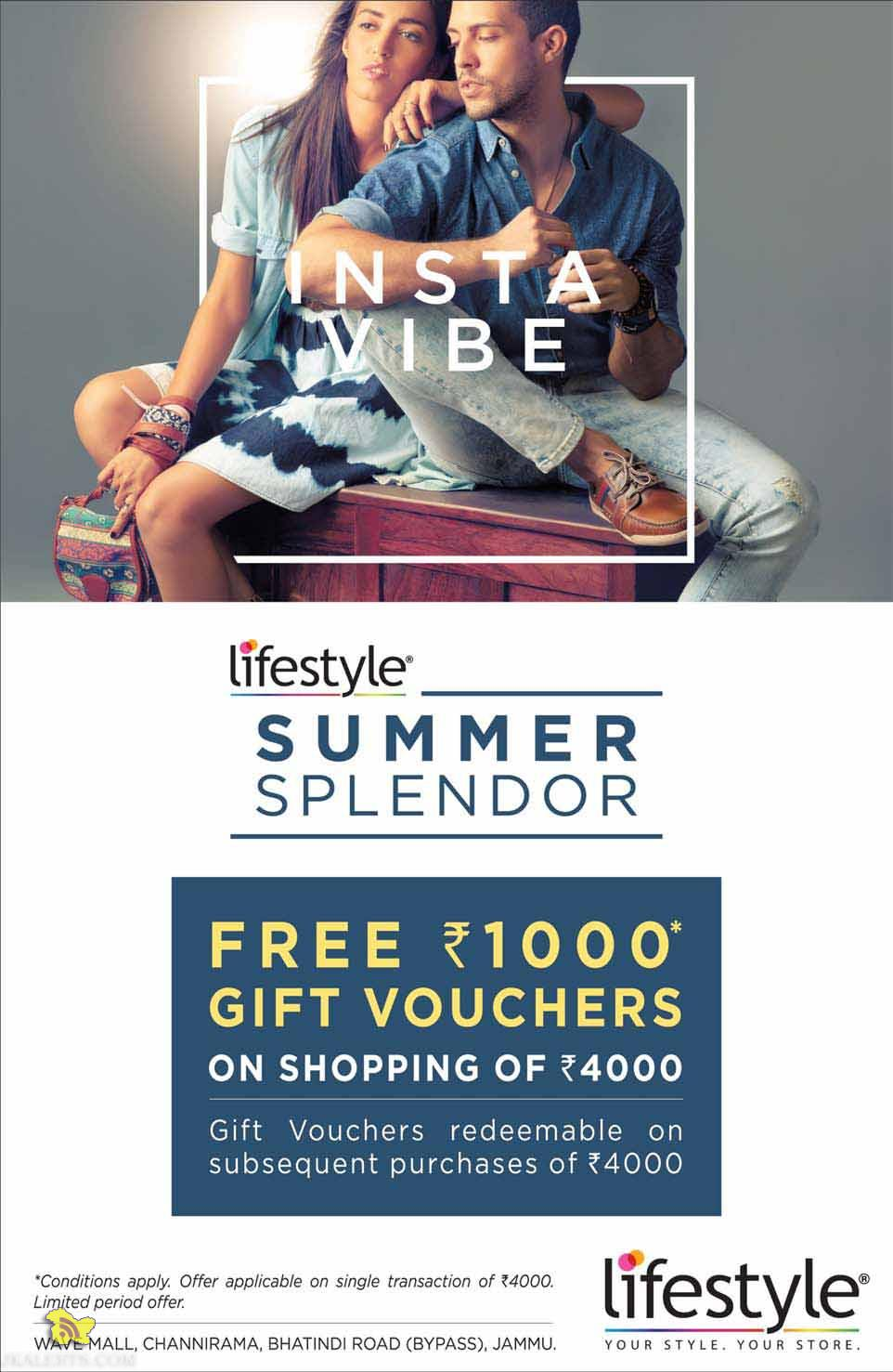 lifestyle SUMMER SPLENDOR offer in wave mall
