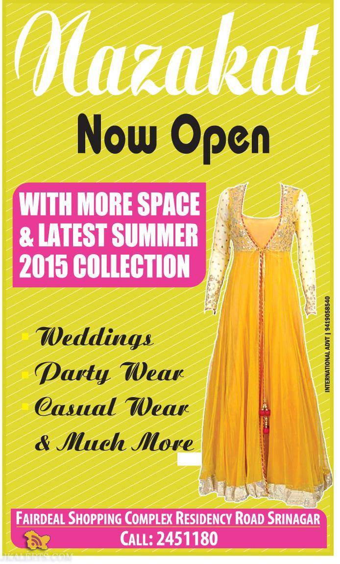 Nazakat Now open with latest collection