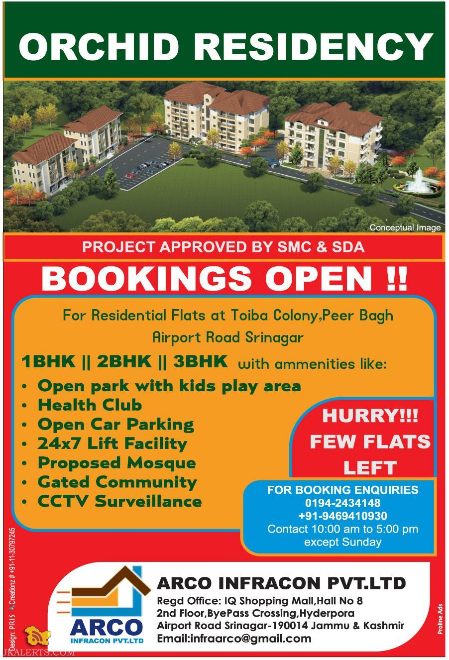 ORCHID RESIDENCY BOOKINGS OPEN !!