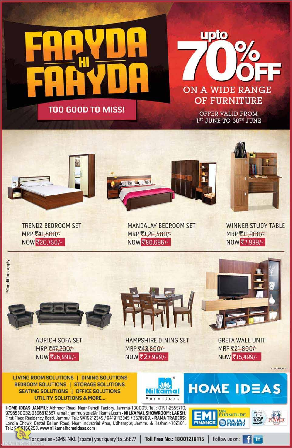 Heavy discount on branded furniture