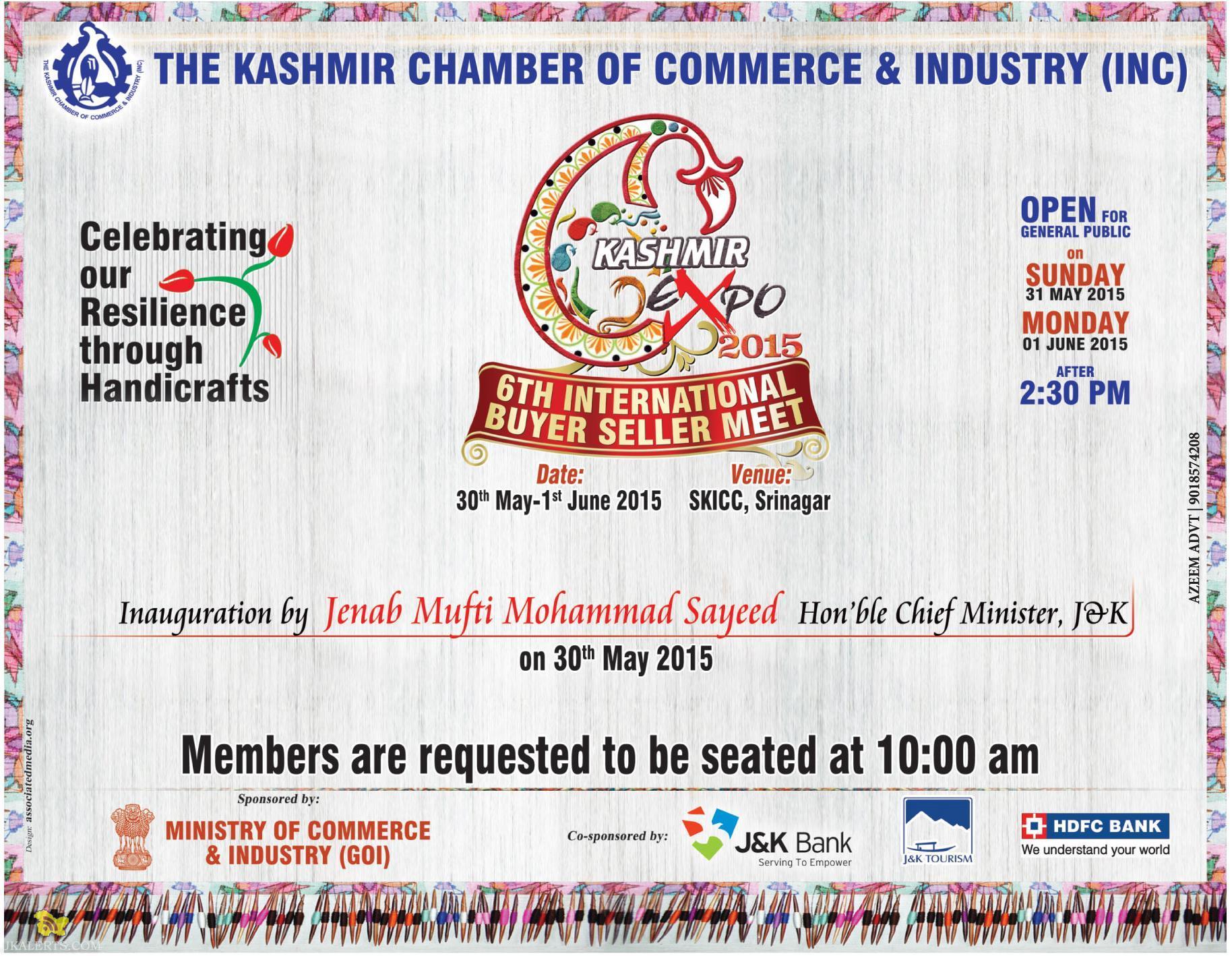 KASHMIR CHAMBER OF COMMERCE & INDUSTRY, Kashmir Expo 2015