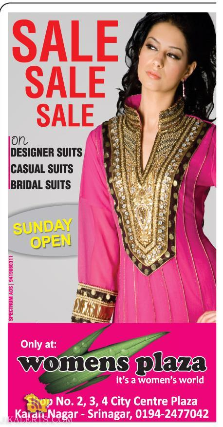 SALE on DESIGNER SUITS CASUAL SUITS BRIDAL SUITS Women Plaza