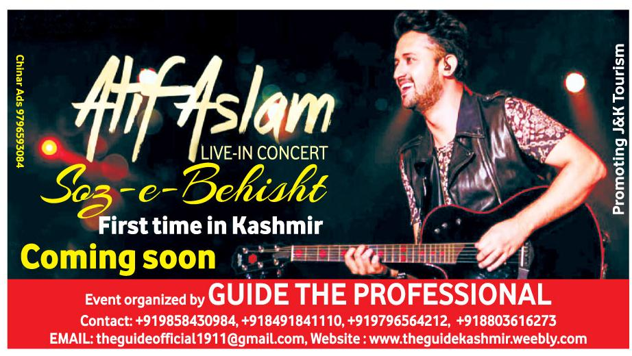 Atif Aslam Live in concert First time in Kashmir