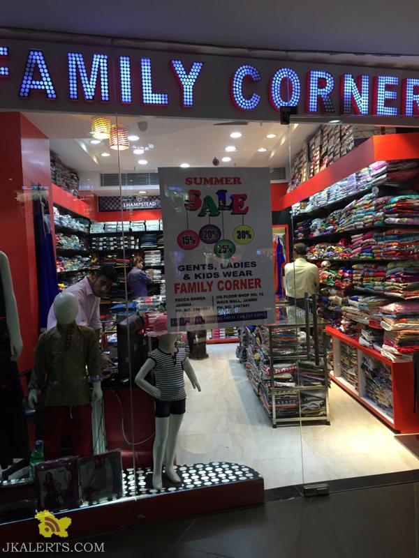 Family Corner End of Season Sale, Latest Offers Deals Discounts, Sale on gents ladies kids Wears, Sale and discounts offers in wave mall Best offer in JAMMU