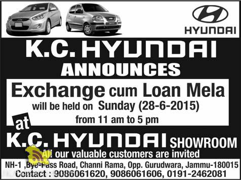 HYUNDAI EXCHANGE OFFER IN J&K
