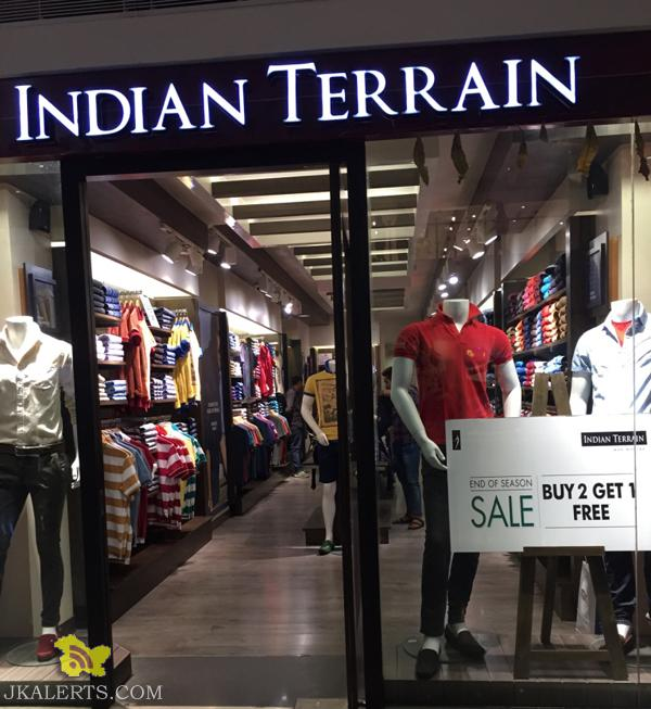 Indian Terrain End of Season Sale, Latest Offers Deals Discounts Sale on Branded Gents wear Shirts Jeans Trousers T shirts Shorts, Sale in wave mall