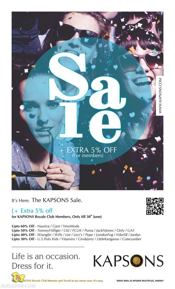 Kapsons sale , Latest offers, discounts, deals in J&k