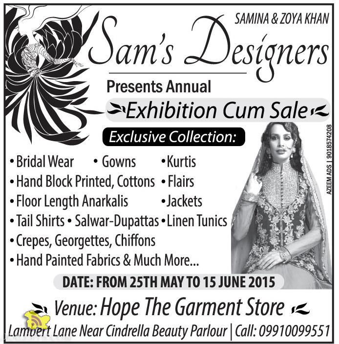 EXHIBITION CUM SALE ON GARMENTS