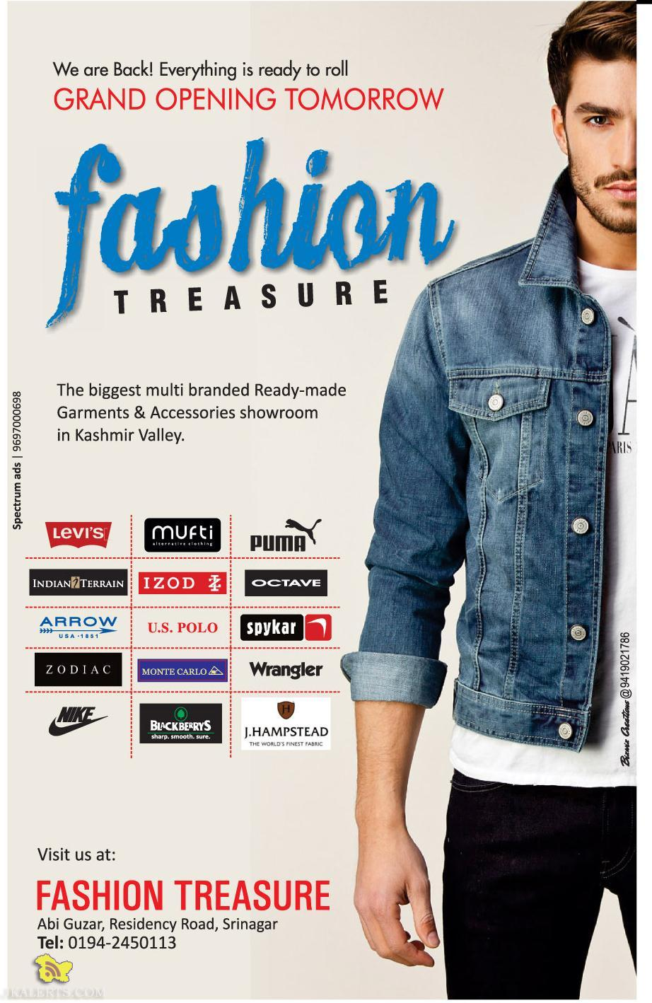 Fashion treasure opening in Residency road Srinagar