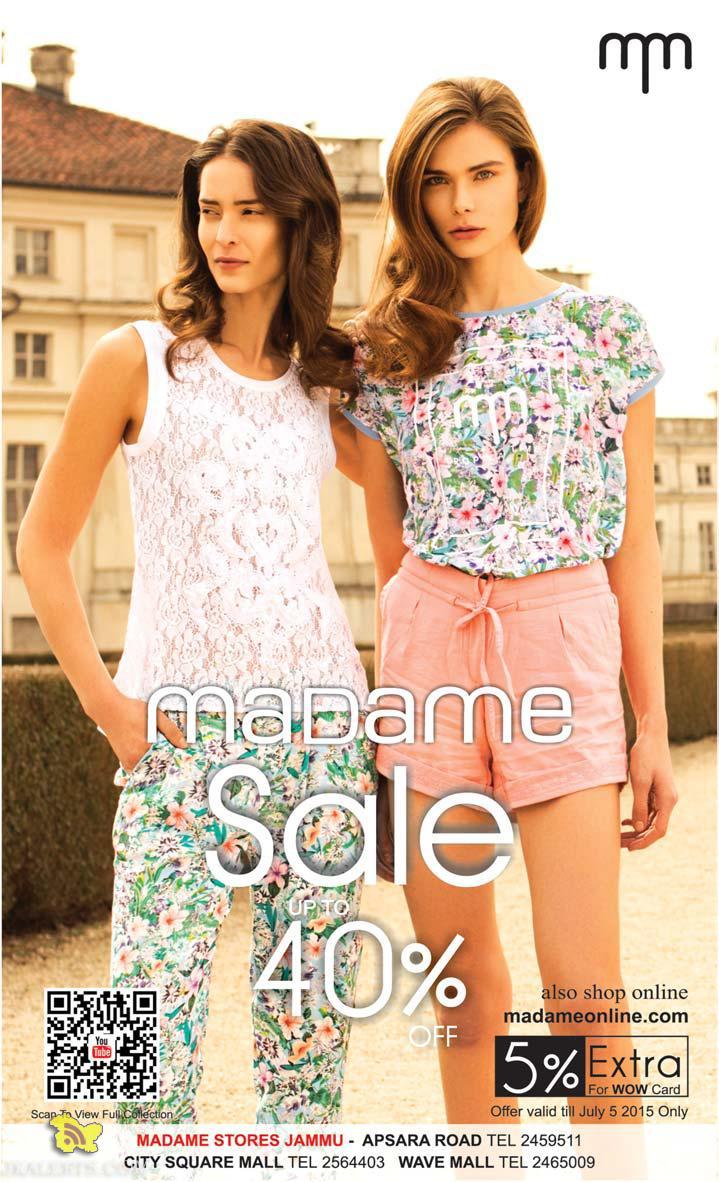 Madame Sale, Latest offers deals discounts on Ladies dresses
