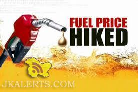 Petrol, diesel prices up in J&K