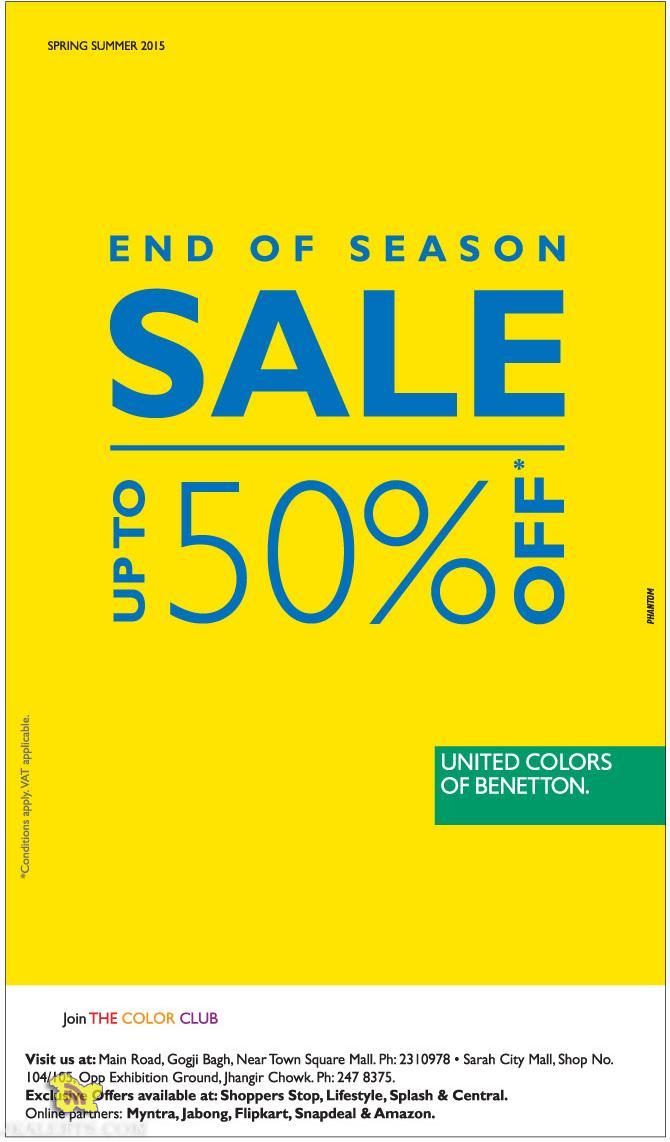 sale on united colors of benetton