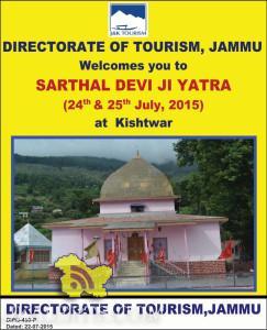 SARTHAL DEVI JI YATRA (24th & 25th July, 2015) at Kishtwar, J&K Tourism