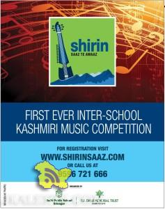 Shirin First Ever Inter School Kashmiri Music Competition