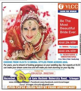 VLCC offers on Bridal Packages, Rebounding and Smoothening