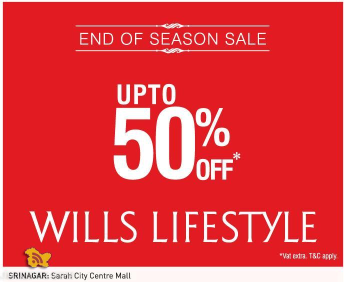 1193d3f38d99 Wills end of season sale , Latest offers deals discounts on garments