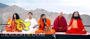 Swami Ramdev holds Yoga Shivir at Leh