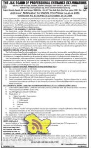 Admission Notification for MD/MS AYURVEDA Courses-2015