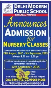 Admission open 2015 Delhi Modern Public School