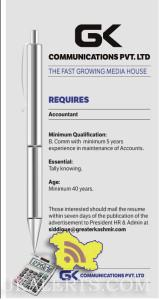 Accountant Jobs in Greater Kashmir