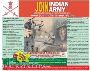 Indian army recruitment for COMMISSIONED OFFICERS