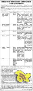 Jobs in Directorate of Health Services ,
