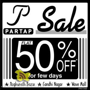 Flat 50% off on Ladies Gents and Kids Shoes Partap Shoes