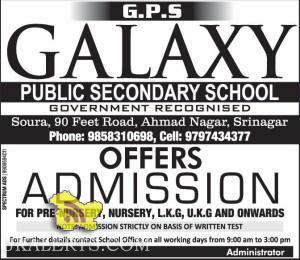 Admission open in Galaxy Public school