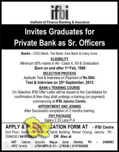 Jobs in Private Banks - ICICI Bank, Yes Bank, Axis Bank & many mo