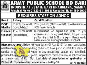 ARMY PUBLIC SCHOOL BD BARI