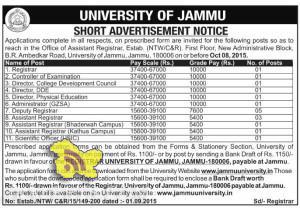 Jobs in University of Jammu