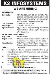 JOBS IN K2 INFOSYSTEMS , Private jobs in Srinagar