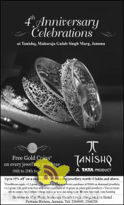 Tanishq 4th anniversary offer free gold coins on every purchase