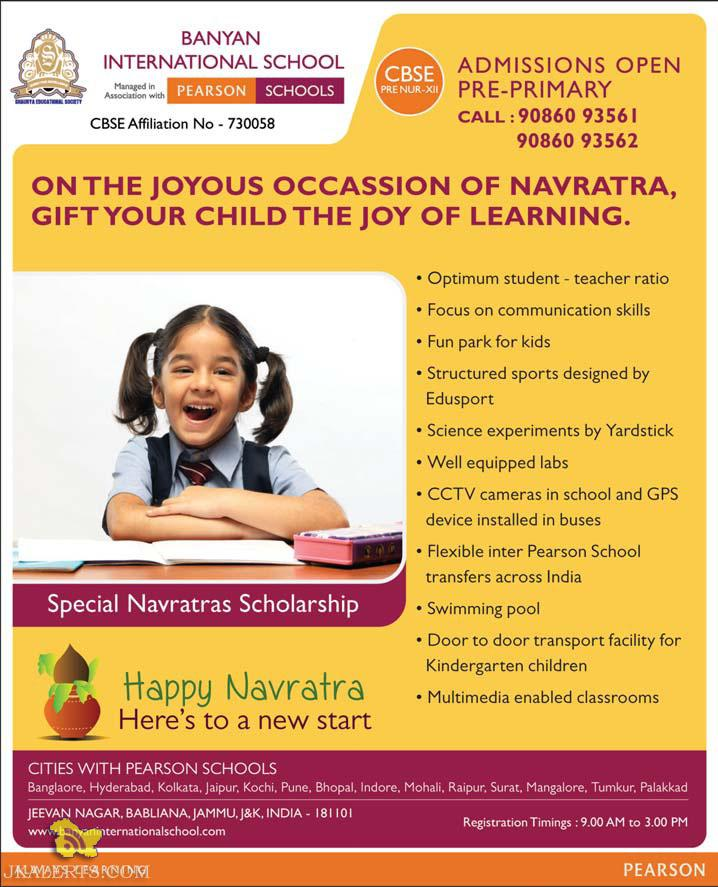 ADMISSIONS OPEN FOR BANYAN INTERNATIONAL SCHOOL