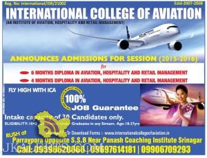 ADMISSION OPEN DIPLOMA IN AVIATION, HOSPITALITY AND RETAIL MANAGEMENT